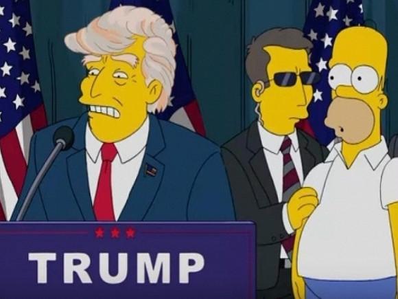 Сериал «Симпсоны» посвятил новый отрывок 100 дням президентства Трампа