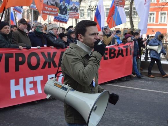 Оппозиционер Яшин останется под арестом еще на15 суток