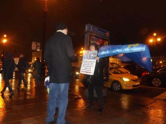 В северной столице провели пикет вподдержку крымских татар