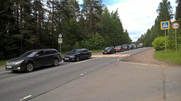 НаВолоколамском шоссе случилось ДТП снесколькими автомобилями