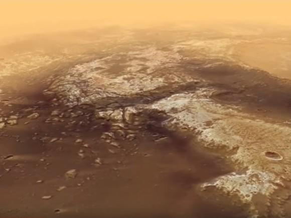 Марсоход Curiosity отыскал наМарсе глину, потрескавшуюся отводы