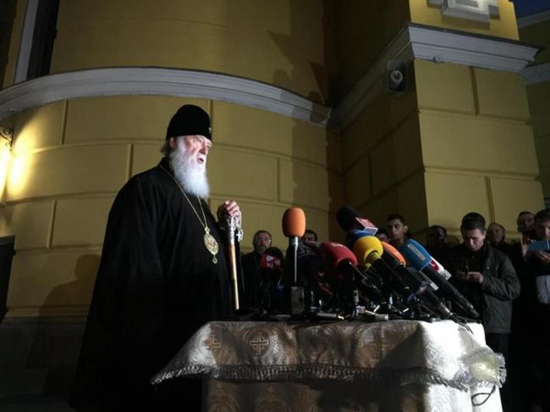 Филарет пообещал, что в скором времени Украинскую церковь автокефально