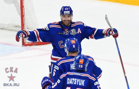 СКА одержал десятую победу подряд вКХЛ