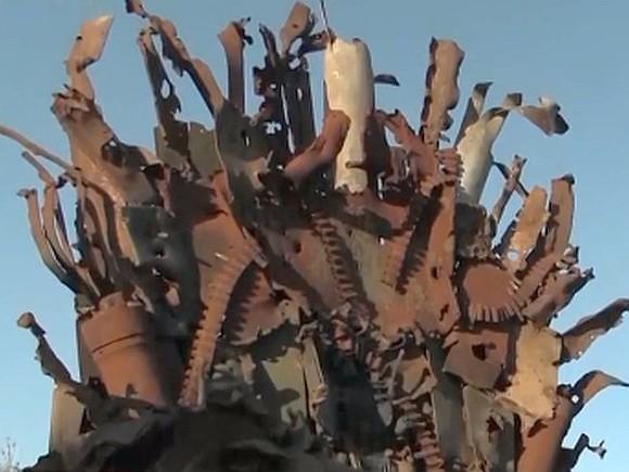 Сваренный напередовой вДонбассе Железный престол выставлен на реализацию