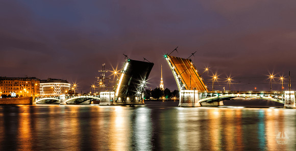 Разводку мостов вПетербурге отменят из-за Дня РФ