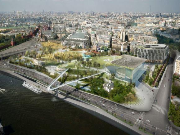В столице достроили подземную часть парка «Зарядье»