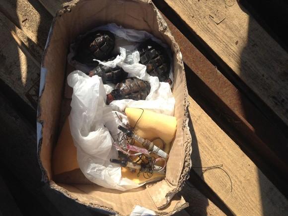 Вгаражах вПушкине найдены 4 боевые гранаты, замаскированные под учебные