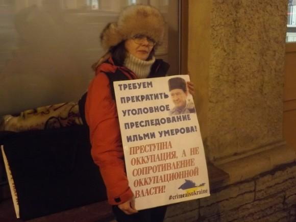 В северной столице собираются каждый месяц выходить наакции вподдержку крымских татар