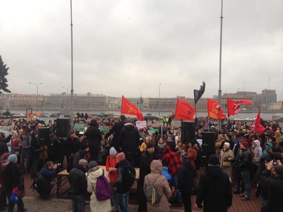 Собчак встретили криками «Позор!» намитинге в северной столице
