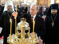 В России хотят причислить Путина к лику святых