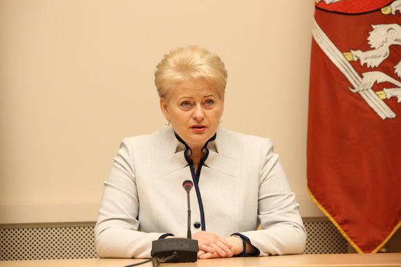 Президент Литвы проигнорировала русских корреспондентов