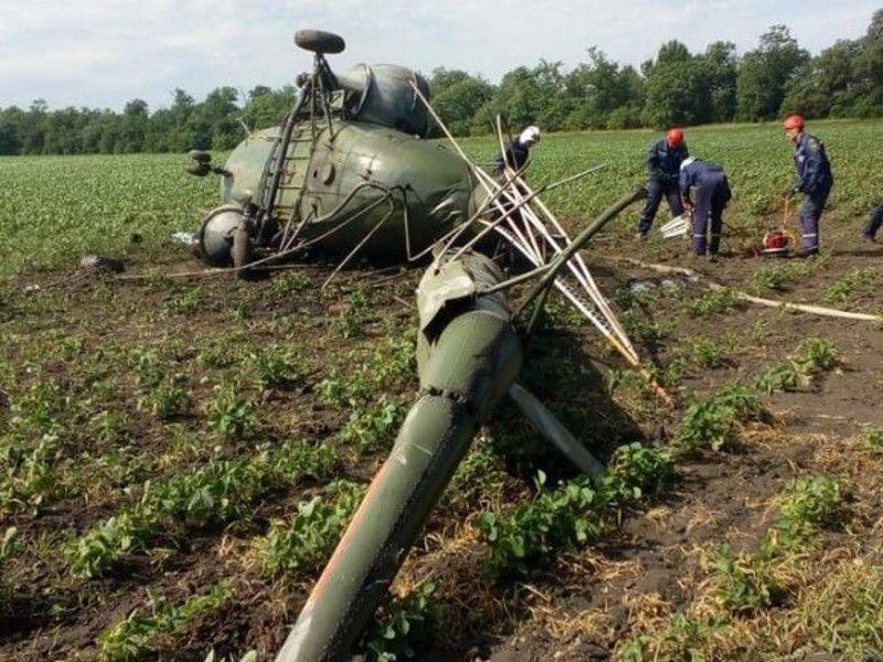 На Кубани авиатор погиб при крушении самодельного вертолета