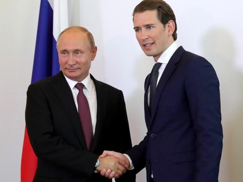 Путин провел переговоры с канцлером Австрии