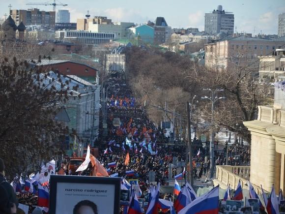 Акция памяти Немцова в Москве 27 февраля 2016 года