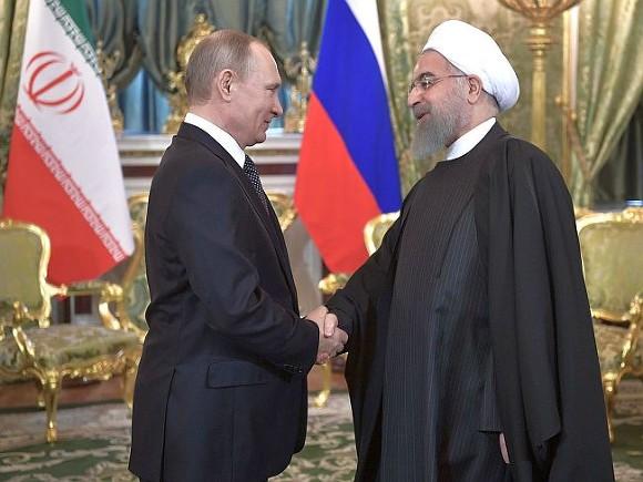 Путин иРоухани обсудили ситуацию вСирии