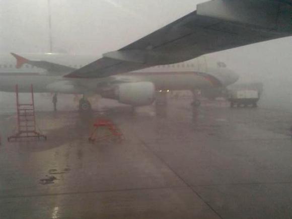 Три авиарейса в столицуРФ задержаны вСтаврополе из-за тумана