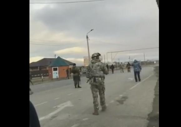 Появилось видео с места теракта в Чечне