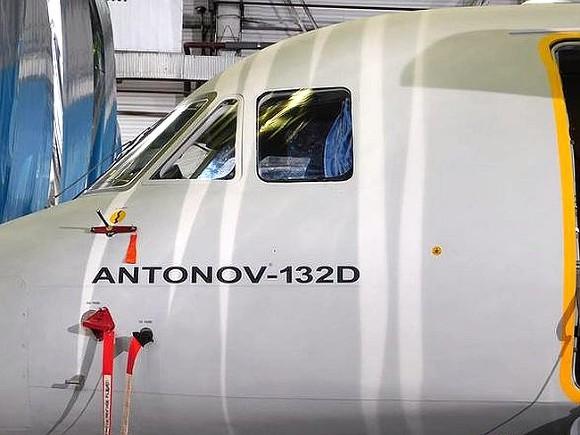 1-ый полет украинского самолета Ан-132Д