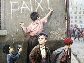 Фрагмент картины Федора Решетникова «За мир»