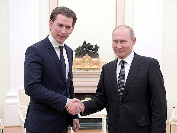 Путин обсудил «Северный поток— 2» сканцлером Австрии