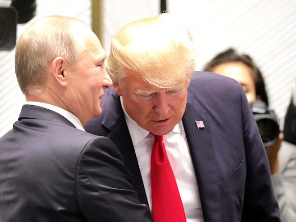 Кремль проинформировал орезультатах телефонных переговоров В. Путина иТрампа