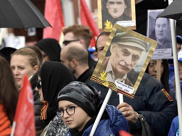 Восемь млн. граждан России приняли участие вакции «Бессмертный полк»