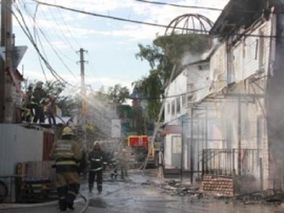 Центральный рынок горит в Перми
