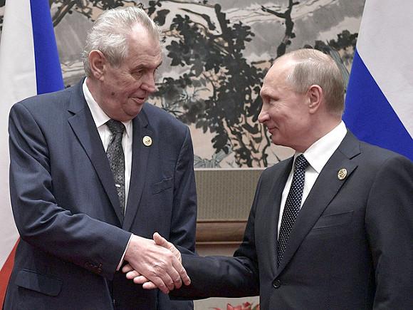 Президент РФ встретится спрезидентом Чехии вСочи 21ноября