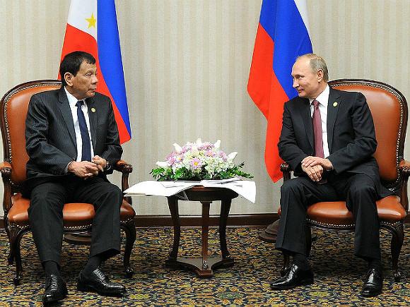 Жители России лучше американцев: Дутерте желает удостоверить В.Путина поставлять оружие наФилиппины