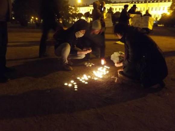 ВПетербурге вспоминали малыша Умарали, погибшего годом ранее