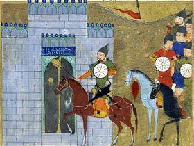 Осада Чжунду. Миниатюра из рукописи Джами ат-таварих. СС0 Public Domain