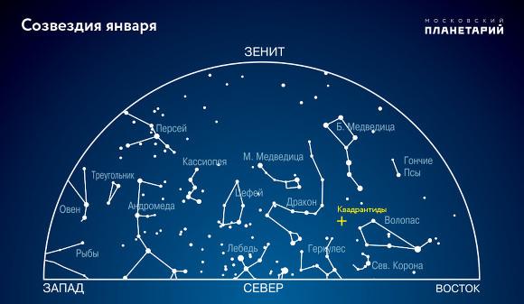 С3 на4января москвичи смогут увидеть мощнейший звездопад