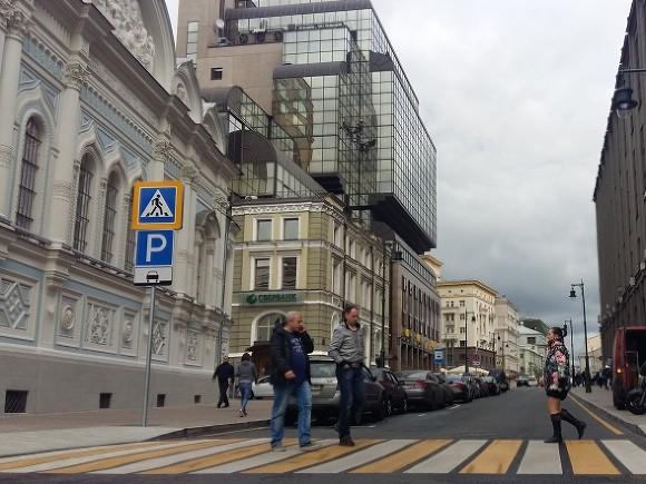 Автомобиль сбил пешехода наТверской улице в российской столице