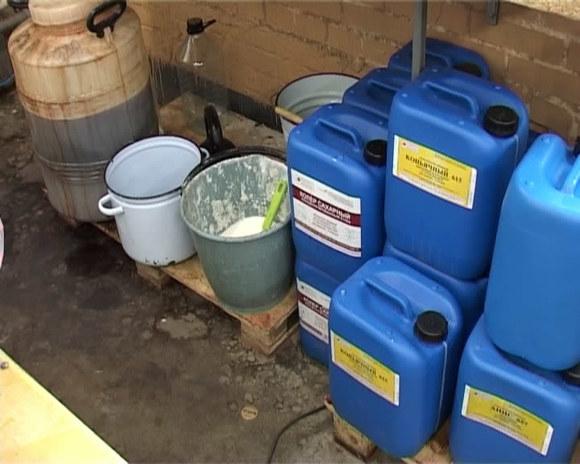 Цех попроизводству незамерзайки наоснове метилового спирта выявили вПодмосковье