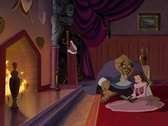 Стоп-кадр из мультфильма «Красавица и Чудовище»