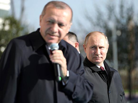Эрдоган вобщении сПутиным объявил онеобходимости деэскалации вСирии— Анкара