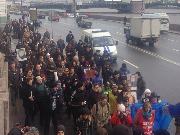 ВПетербурге прошел «Марш против ненависти»