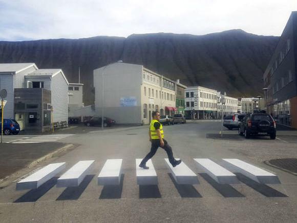 «Парящий» пешеходный переход появился вИсландии