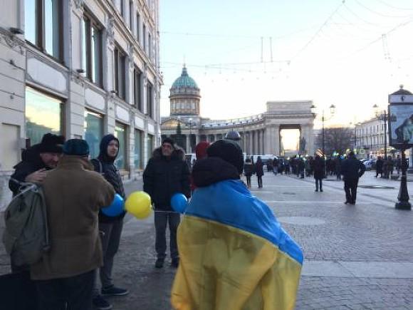 ВПетербурге задержали участника акции против войны вгосударстве Украина