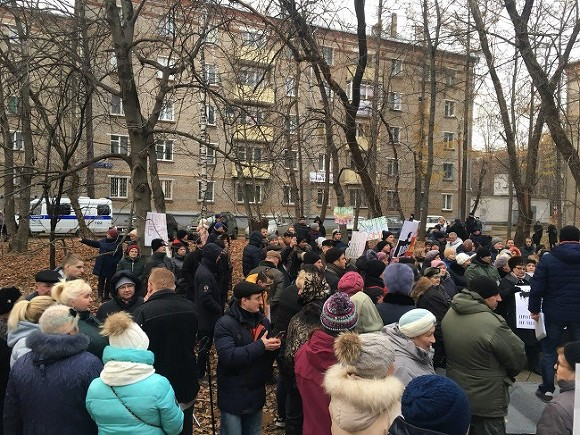 В Кунцево прошел митинг за немедленное начало реконструкции района