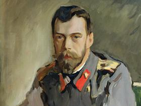 Портрет Николая II, фрагмент картины Валентина Серова