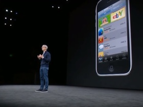 Стоп-кадр видео с презентации Apple