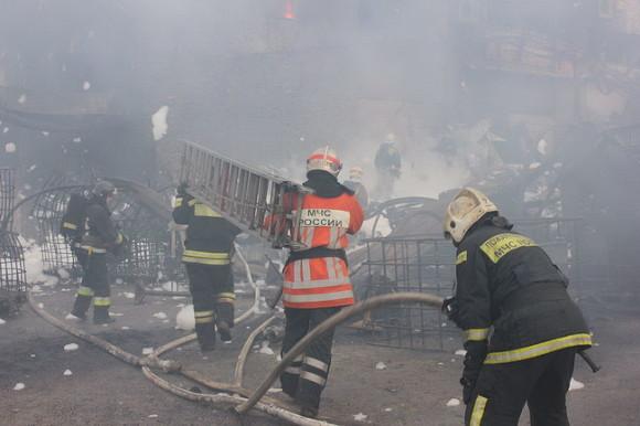 ВЛенинградской области сгорело сооружение горнолыжного курорта