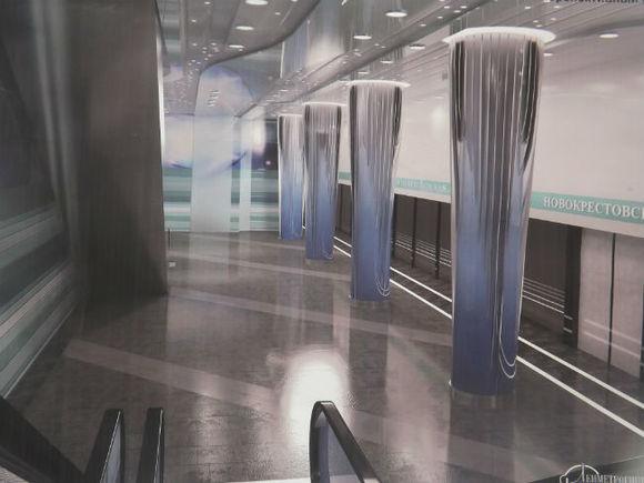 Проходческий щит прорыл тоннель кстанции метро «Новокрестовская»
