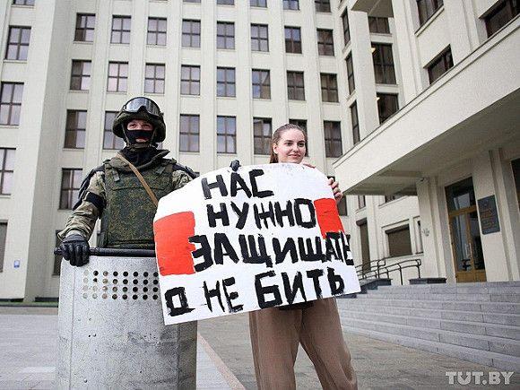 В столице Белоруссии задержали 120 протестующих