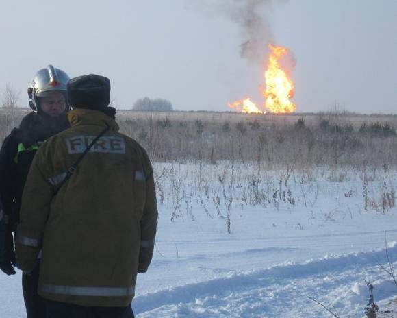 Взрыв произошел на магистральном газопроводе под Оренбургом