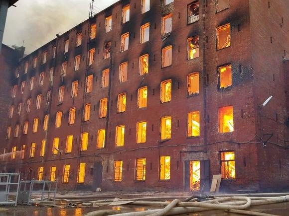 Сгоревшую Невскую мануфактуру планировали отреставрировать