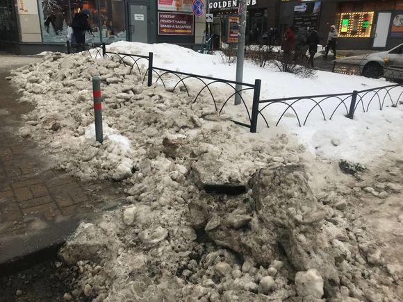 «Город-герой поработила грязь и бессовестность»: петербуржцы возмущены слякотью и сугробами в человеческий рост (фото, видео)