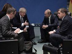 Путин провел встречи с Джонсоном и главой Еврокомиссии в Берлине
