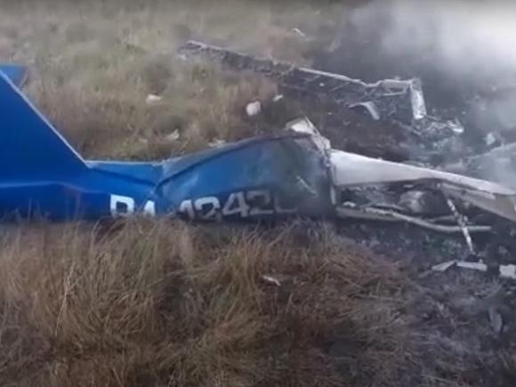 В Подмосковье рухнул и загорелся самолет: люди на борту погибли (видео)